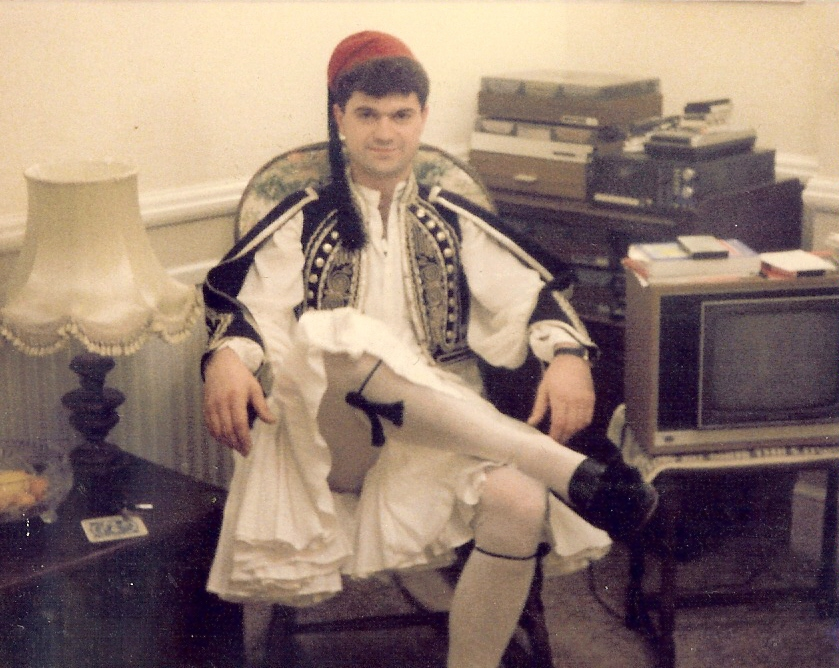 My father in Greek traditional dress