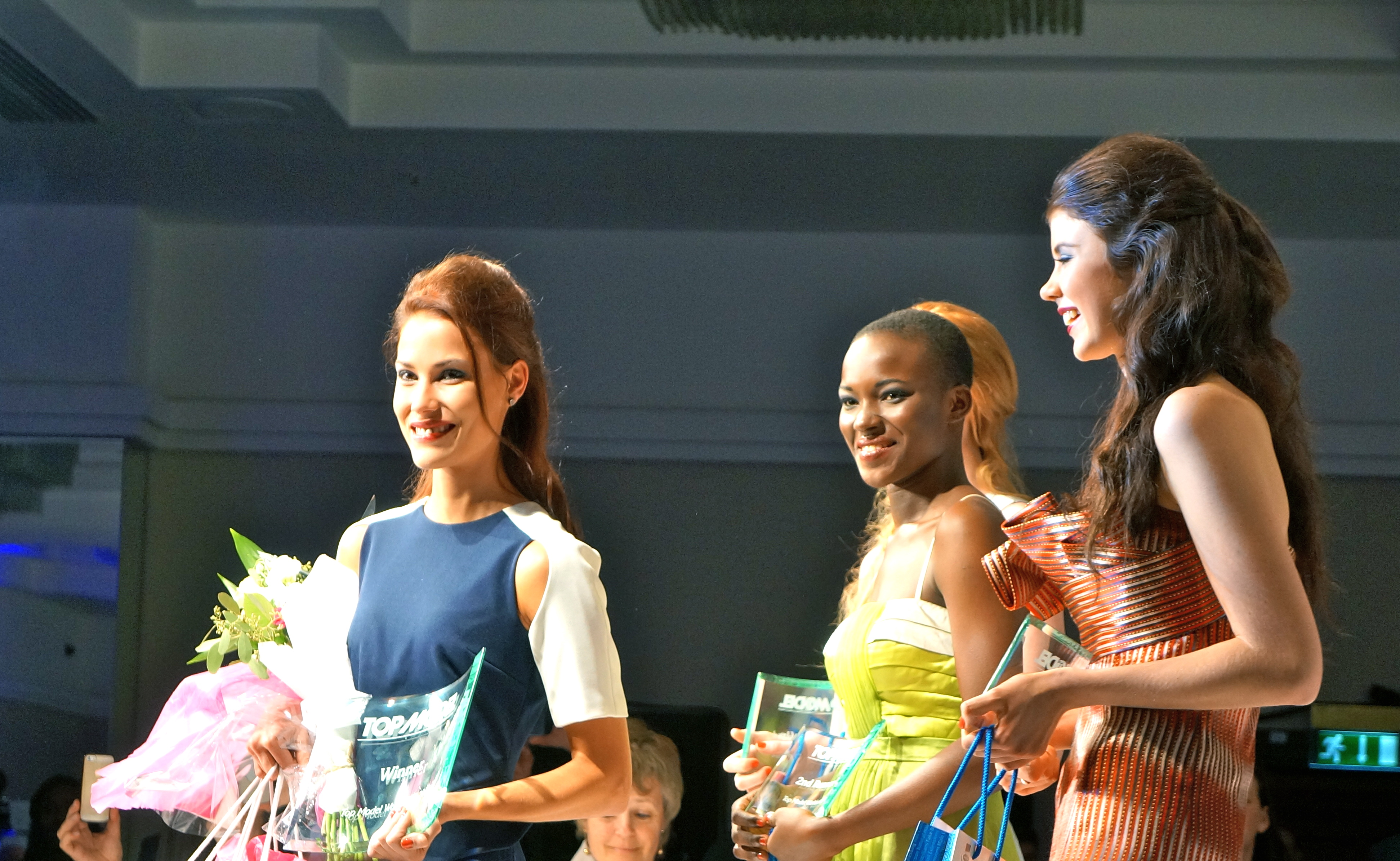 Models with their awards