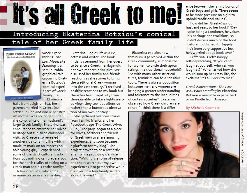 It's All Greek to Me! Interview with Level 4 Magazine