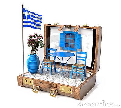 Inside a Greek's suitcase