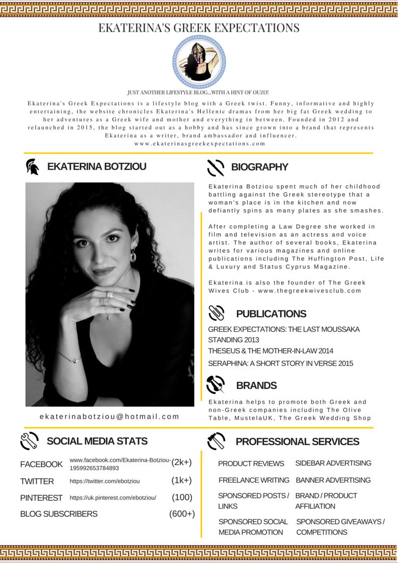 Ekaterina Botziou Media Kit 2015