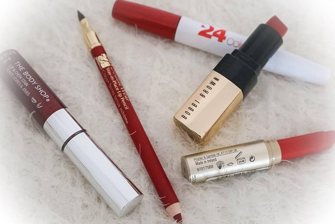 Red Christmas Lipsticks