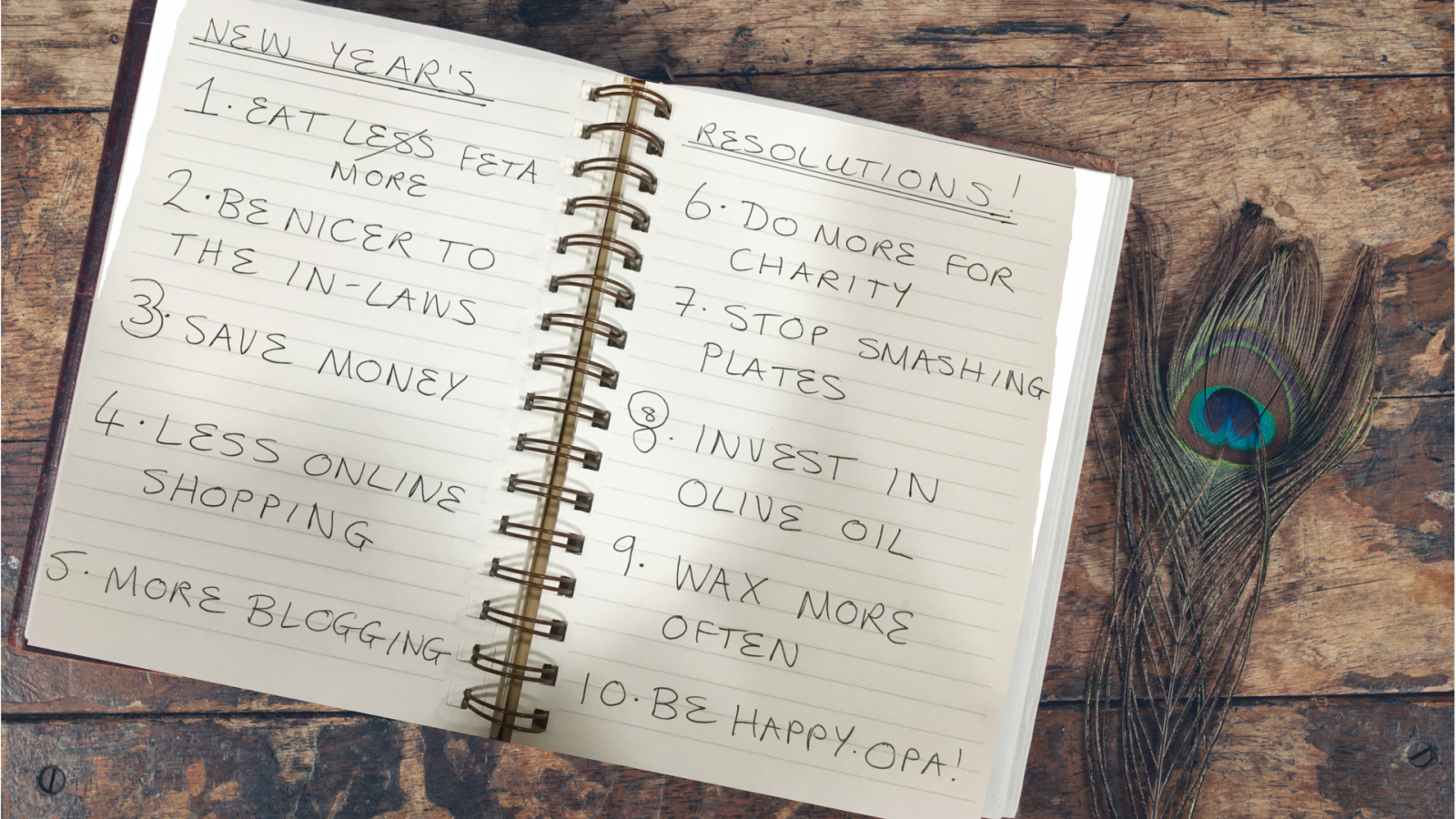 Top 10 GREEK New Year Resolutions