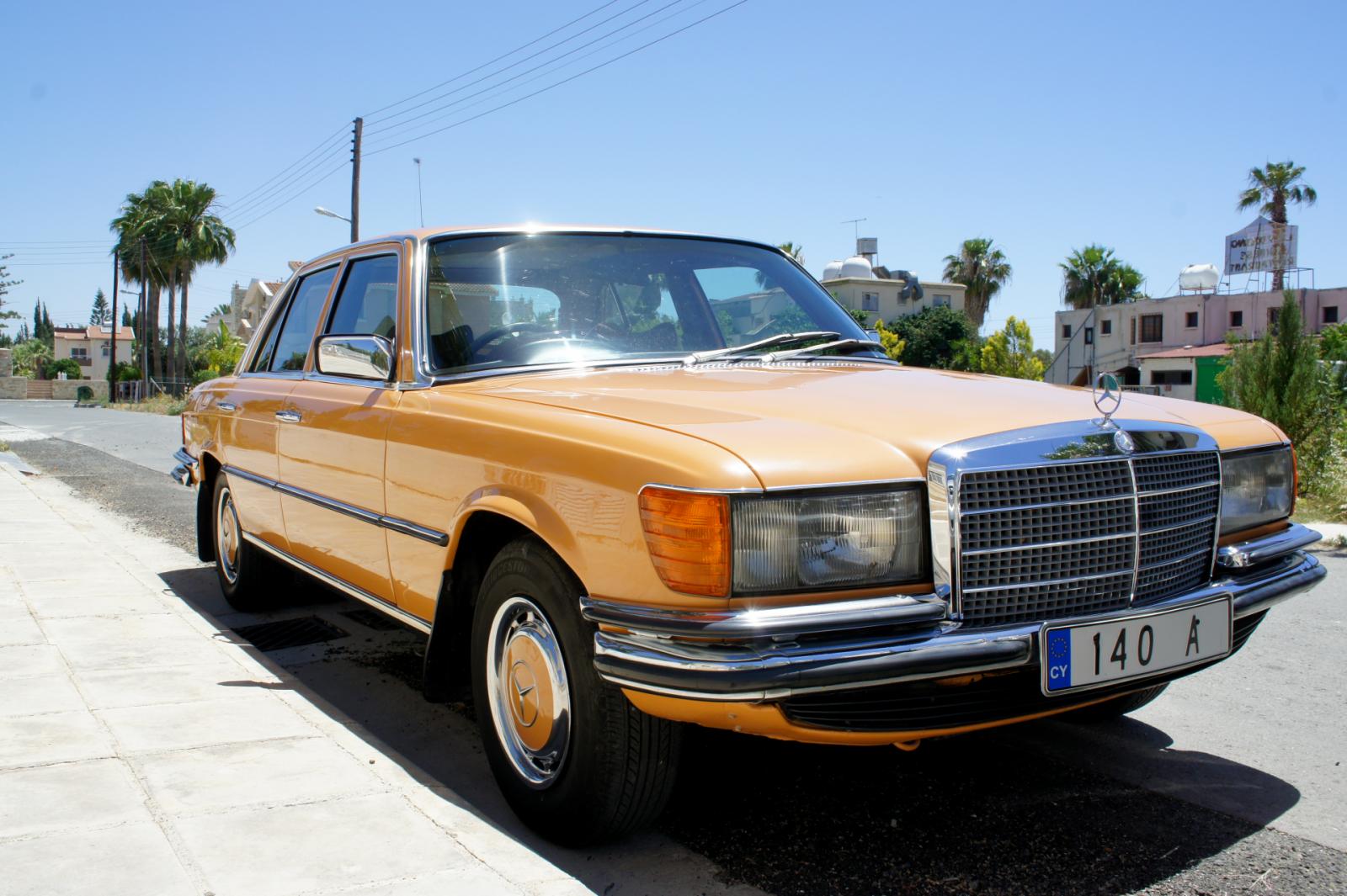 Orange Mercedes