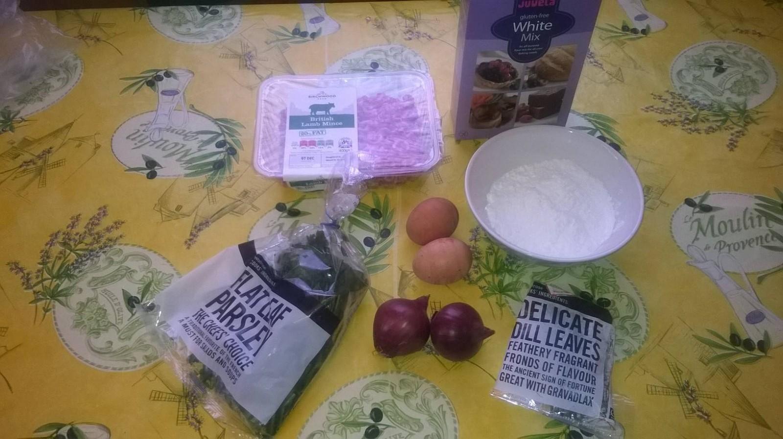 Gluten free burger ingredients
