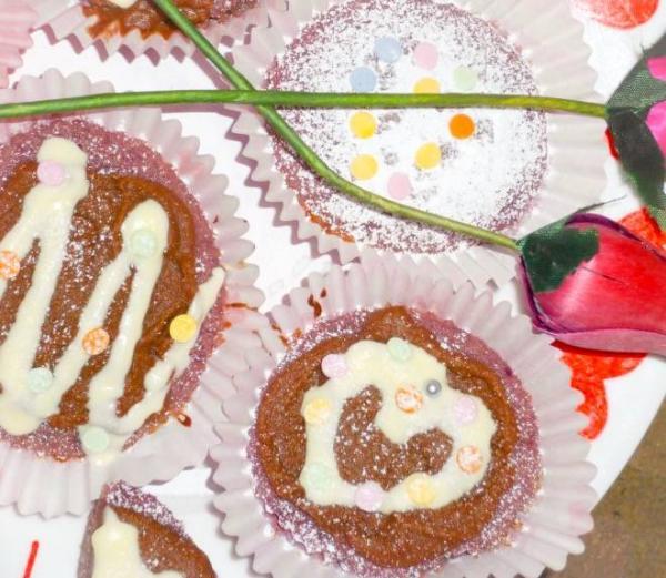 Gluten-free valentines cupcakes