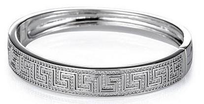 QVC Tova Greek Key Bracelet