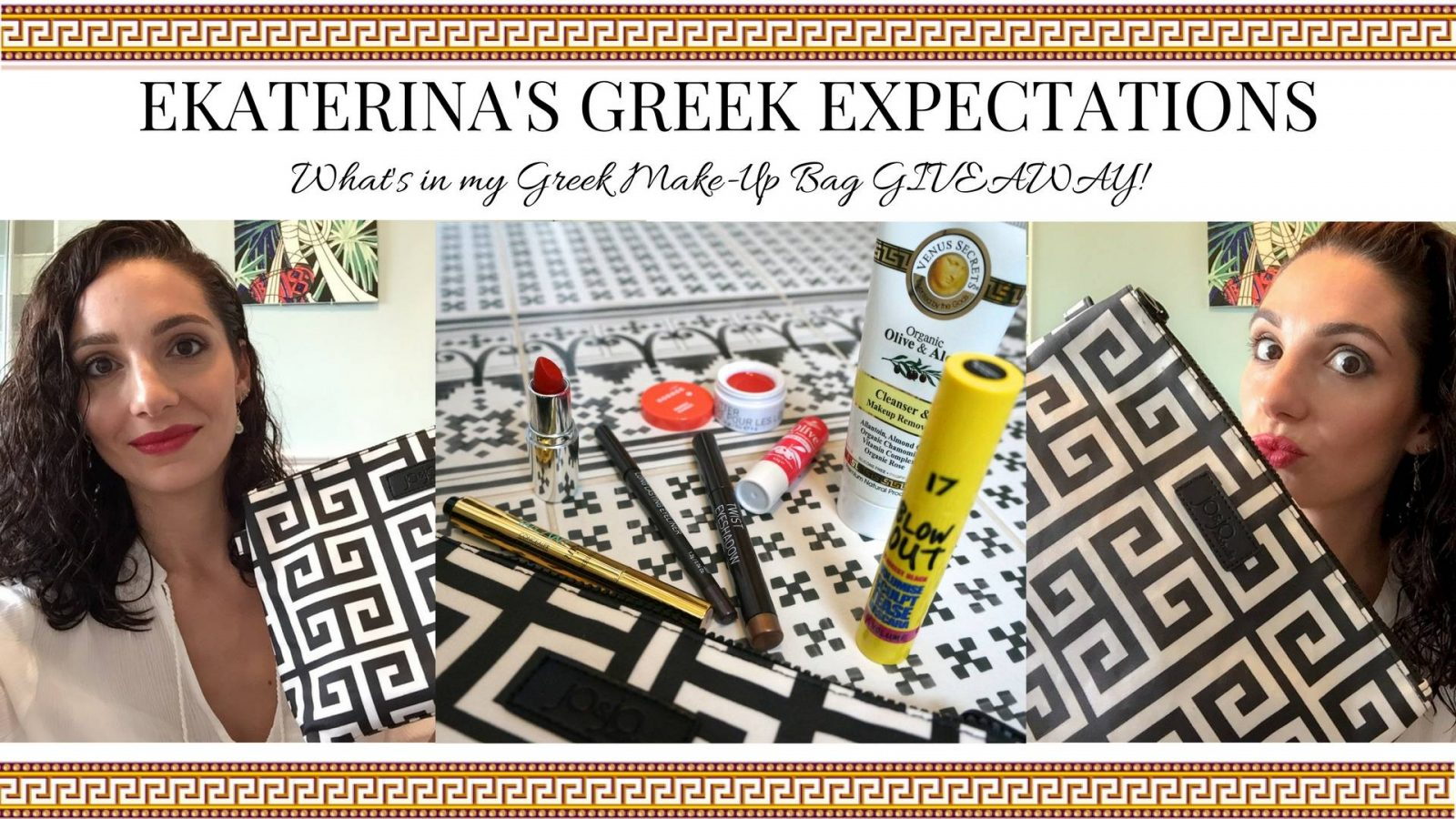 What's in my GREEK Make-up Bag VIDEO! *AND GIVEAWAY*