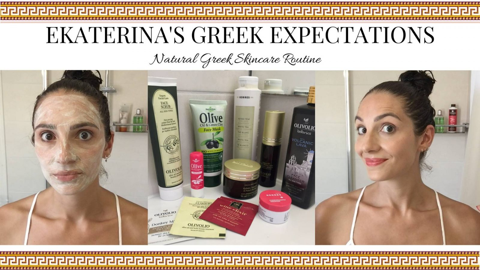 Natural Greek Skincare Routine VIDEO